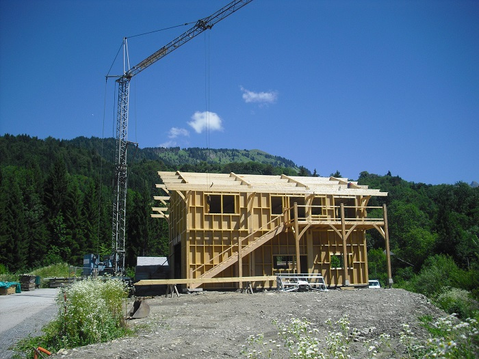 Construction chalet samoens